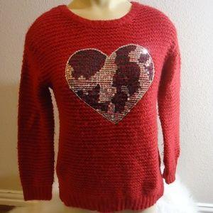 "Jessica Simpson ""Suzie"" Heart Sweater (M)"